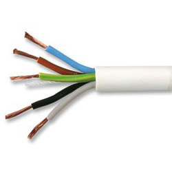 0.75mm 5 core 3185 PVC Flex Cable White