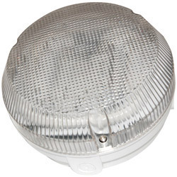 Ansell 16W 2D Circular Bulkhead Fitting White Base Prismatic Cover