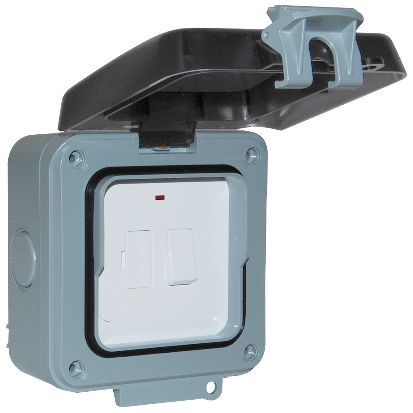 Ip66 1 Gang Fused Spur Weatherproof Waterproof Accs Wiring A Socket