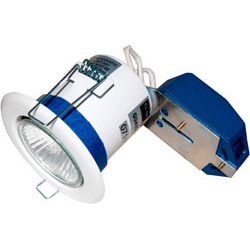 Scolmore Flameguard GU10 50W Fixed Downlight White Finish