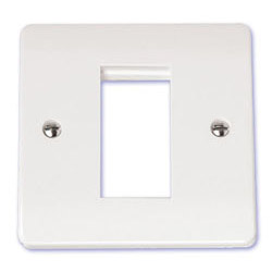 Scolmore Click Mode 1 Gang Single Media Plate Single Aperture