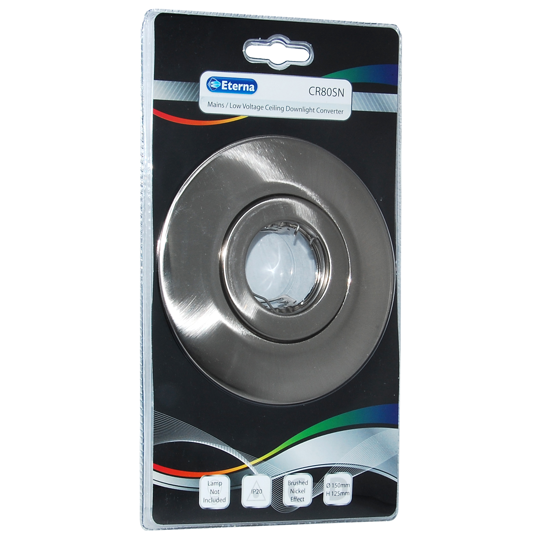 Low Voltage Indoor Lighting Systems: Eterna GU10 / Low Voltage Ceiling Converter Brushed Nickle