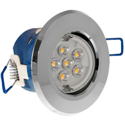 Inceptor MICRO 7w Cool White Integrated LED Downlight - Chrome