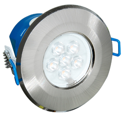 Inceptor MICRO 7w Cool White Integrated LED Downlight - Satin Chrome
