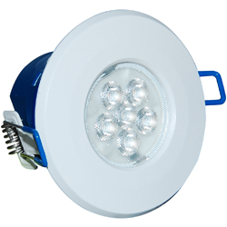 Inceptor MICRO 7w Cool White Integrated LED Downlight - White