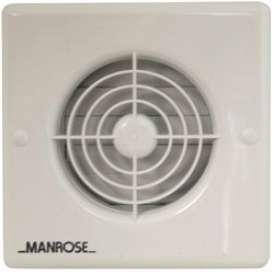 Manrose 4 100mm Wall Fan Automatic with Timer