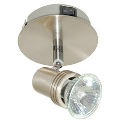 Searchlight Decco Range 1XGU10 Spotlight Silver