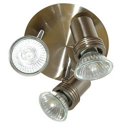 Searchlight Decco Range 3XGU10 Three Spotlights Silver