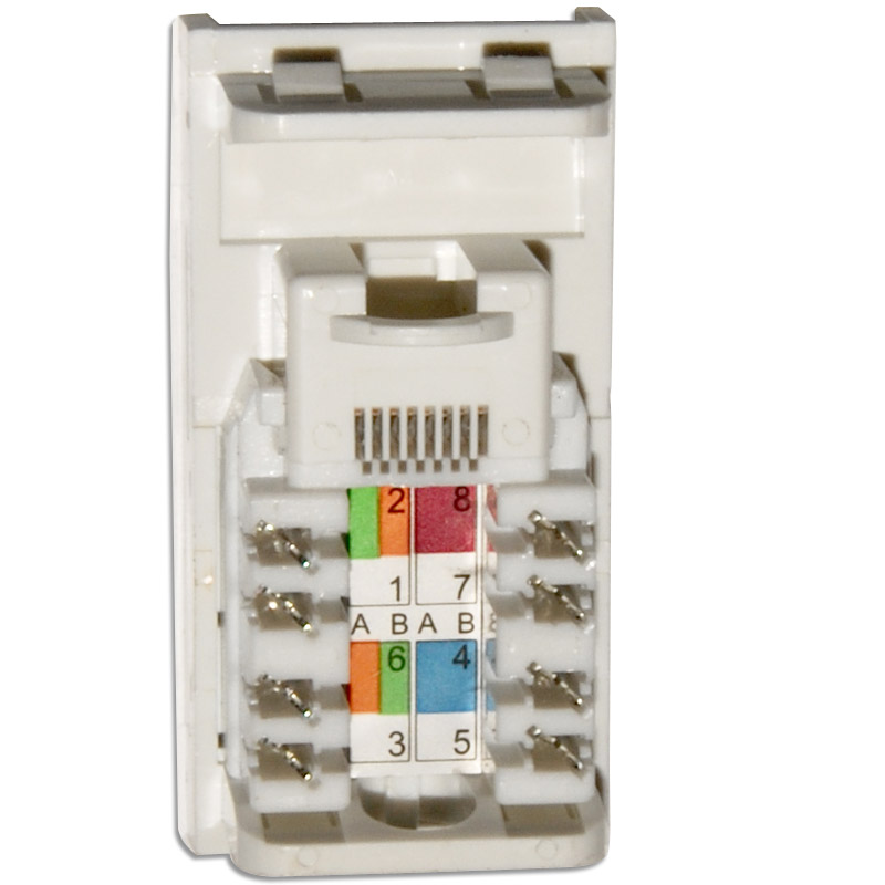 Data Cat5e Rj45 Wall Grid Outlet Module Click New Media