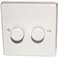 Varlilght 2 Gang 2 Way 250W White Dimmer Switch
